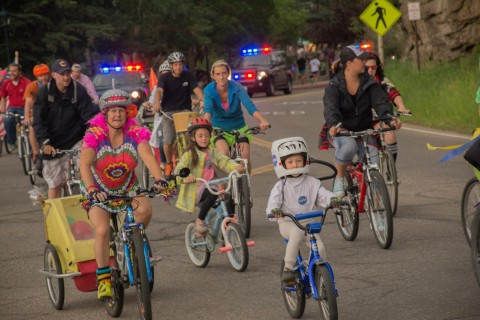 Bicycle Parade & Movies in the Mountains